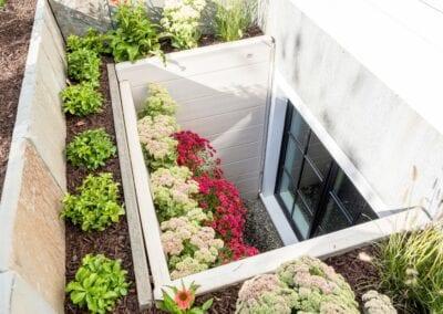 Egress Window with Flowers