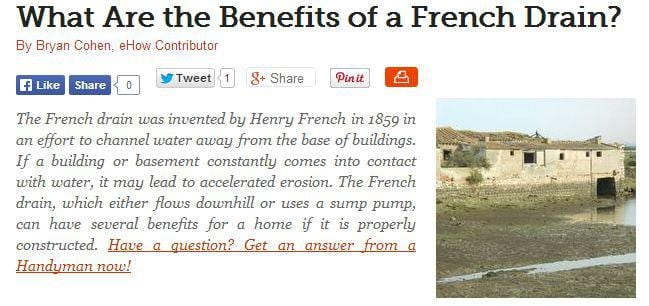 What Are The Benefits Of A French Drain